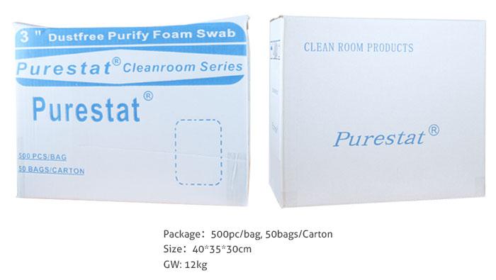 clean foam swab